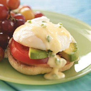 Eggs Benedict with Jalapeno Hollandaise
