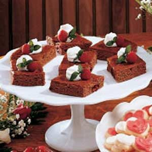 Raspberry Swirled Brownies