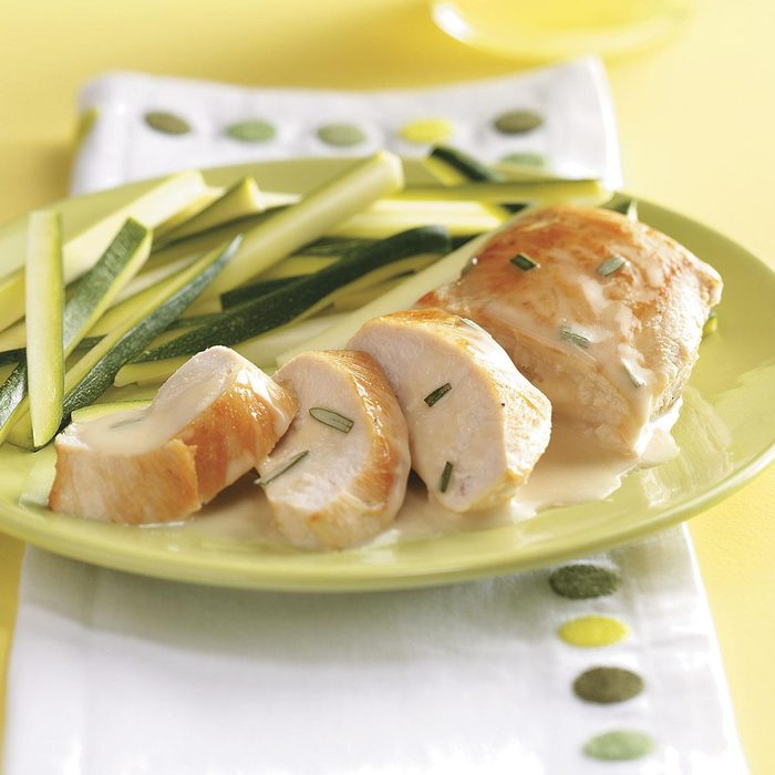 Chicken with Rosemary Butter Sauce for 2