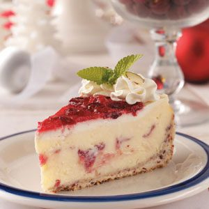 Cranberry Celebration Cheesecake