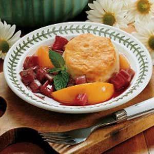 Rhubarb Peach Shortcake