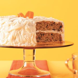 Carrot-Spice Cake with Caramel Frosting