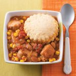 Southwestern Potpie with Cornmeal Biscuits