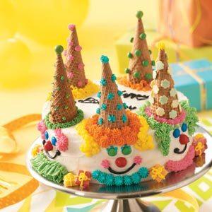 Birthday Clown Cake
