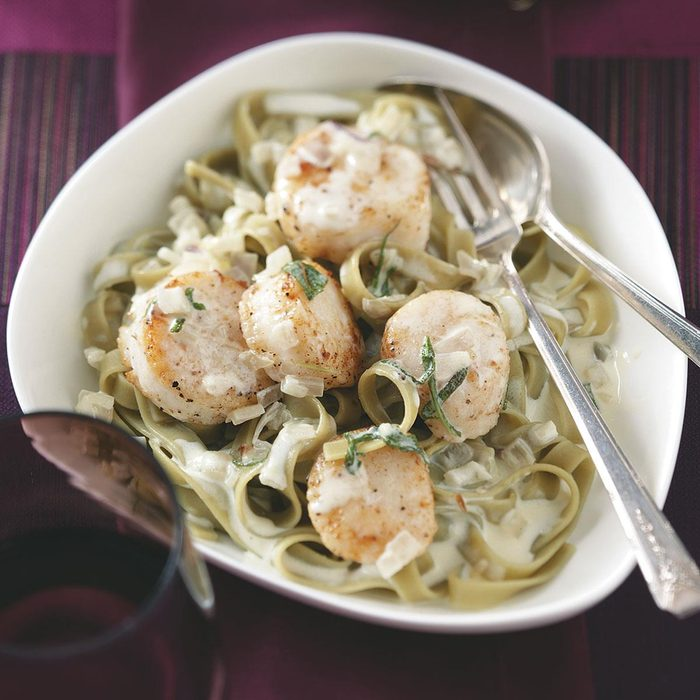 Scallops in Sage Cream for Two