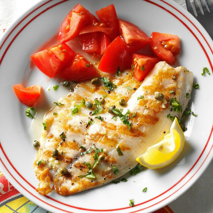 Day 22: Grilled Tilapia Piccata