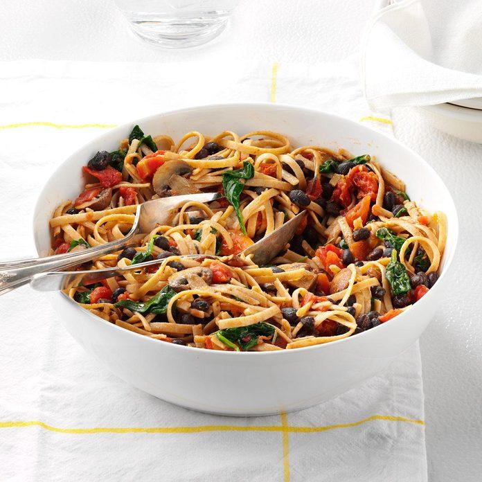 Vegetarian Black Bean Pasta