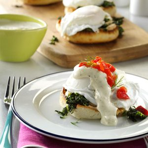 Eggs Benedict with Dill Sauce