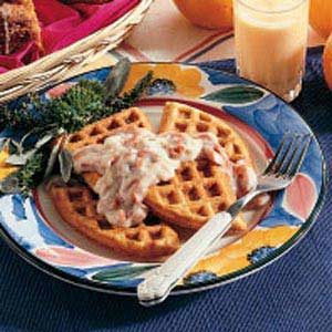 Herbed Waffles with Creamed Beef