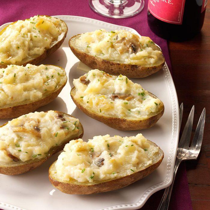 Sherried Mushroom Baked Potatoes