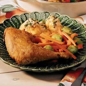 Chicken 'n' Dumplings with Sour Cream Gravy