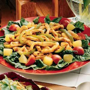 Stir-Fry Spinach Salad