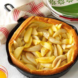 Apple-Pear Puff Pancake