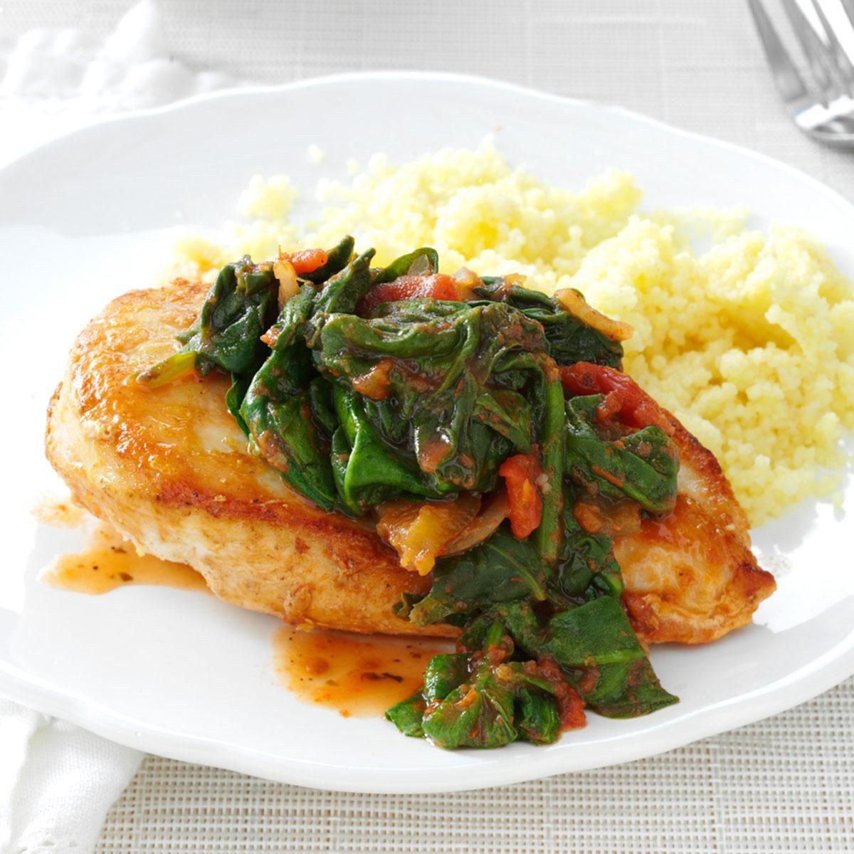 Day 26: In-a-Pinch Chicken & Spinach