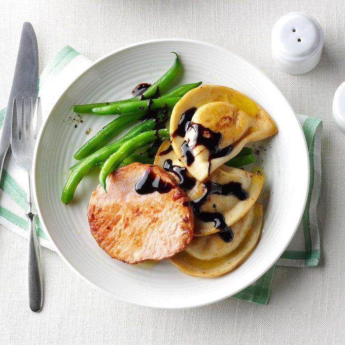 Editor's Pick: Smoked Pork Chops & Pierogies Dinner