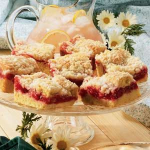 Cherry Rhubarb Coffee Cake
