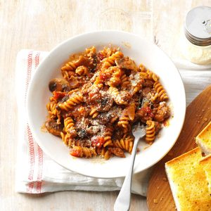 One-Pot Saucy Beef Rotini