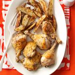 Roasted Chicken with Potato Wedges