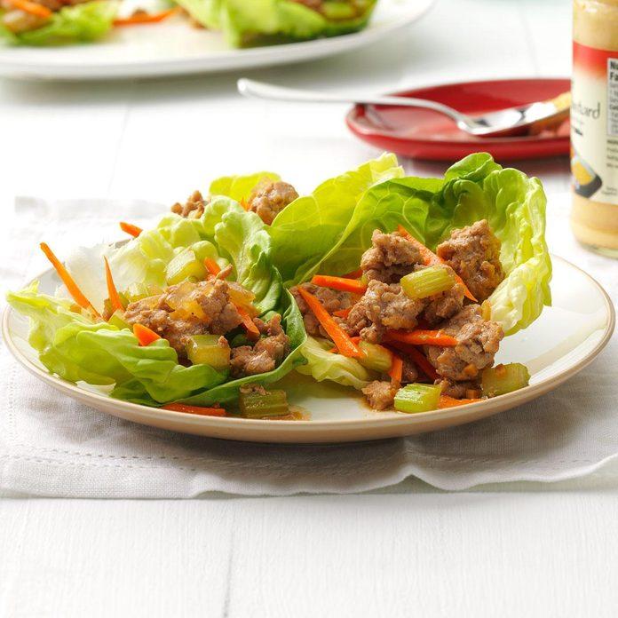 Spicy Turkey Lettuce Wraps