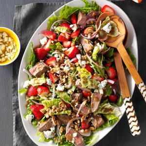 Strawberry-Blue Cheese Steak Salad