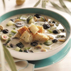 Icy Olive Soup