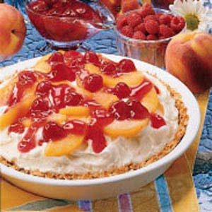 Peach Melba Ice Cream Pie