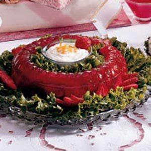 Rosy Rhubarb Mold