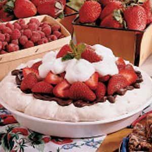 Strawberry Meringue Pie