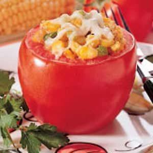 Cheesy Corn-Stuffed Tomatoes