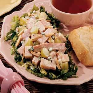 Turkey and Ham Salad with Greens