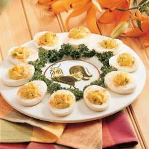 Garlic Deviled Eggs