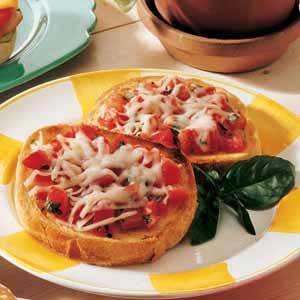 Open-Faced Mozzarella Sandwiches
