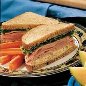 Ham and Double Cheese Sandwiches