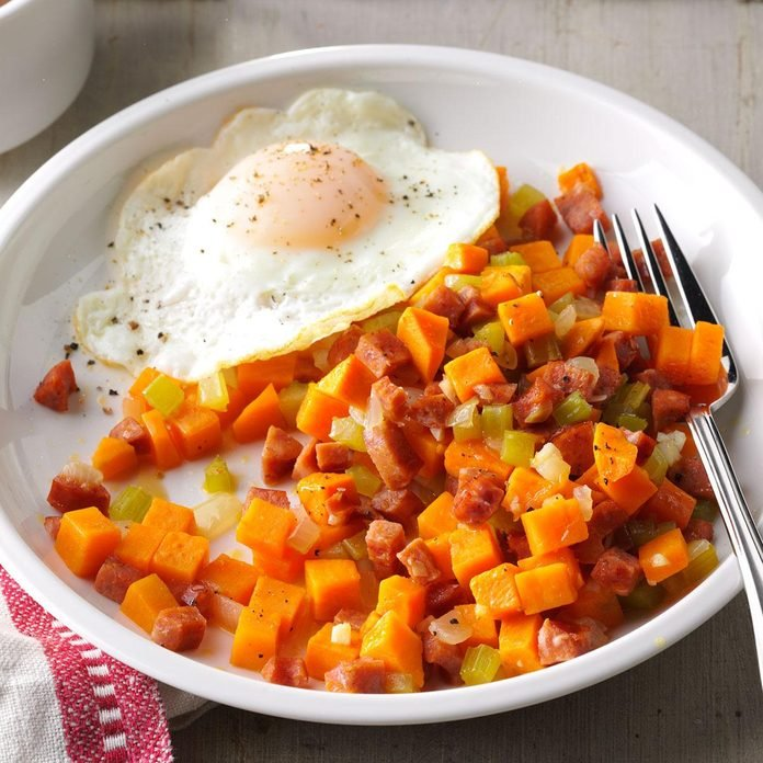 Sweet Potato & Andouille Hash