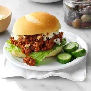 Greek Sloppy Joes