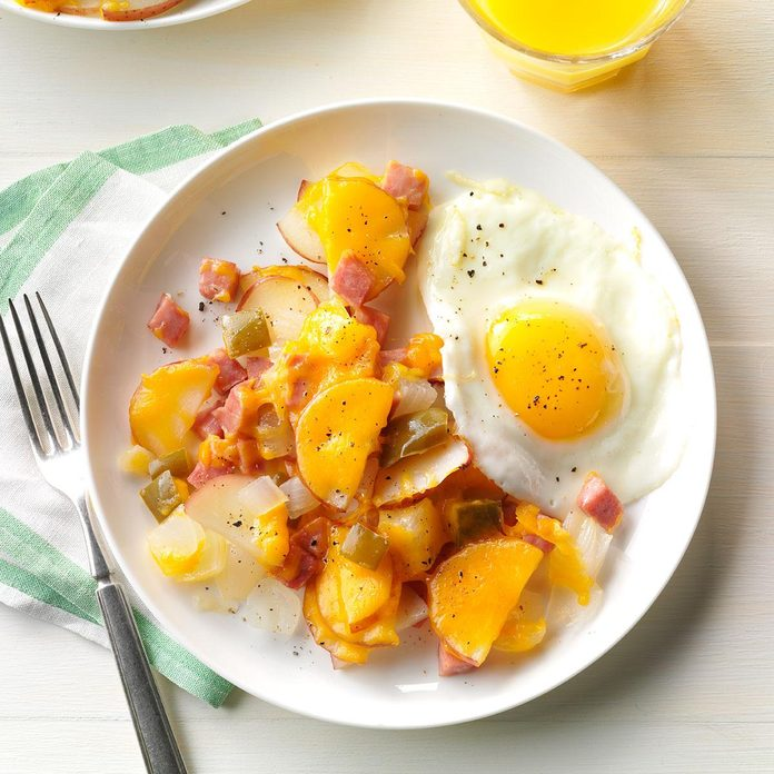 Day 11: Cheesy Ham & Potato Packet