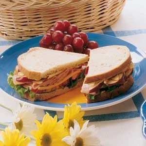 Nutty Ham and Apple Sandwiches