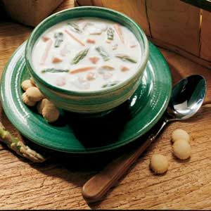 Creamy Ham and Asparagus Soup