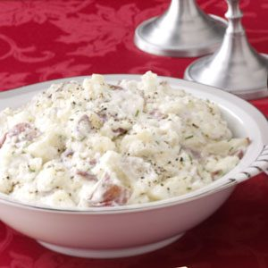 Garlic & Chive Mashed Red Potatoes