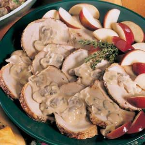 Pork Roast with Apple-Mushroom Sauce