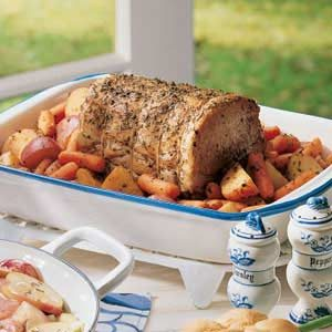 Rosemary Pork Roast with Vegetables