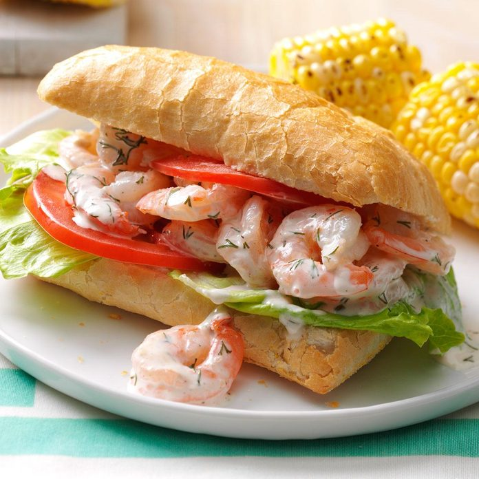 Lemon & Dill Shrimp Sandwiches