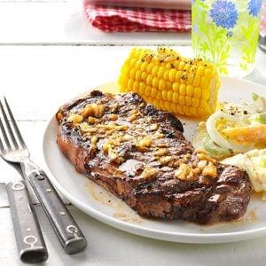 Garlic Grilled Steaks