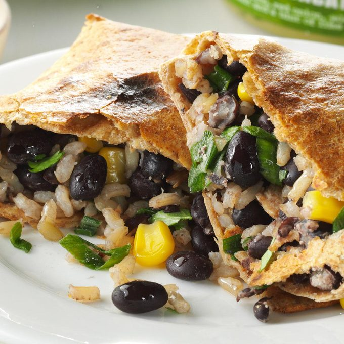 No-Fry Black Bean Chimichangas