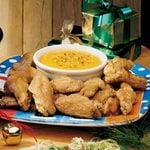 Chicken Wings with Spicy Apricot Sauce