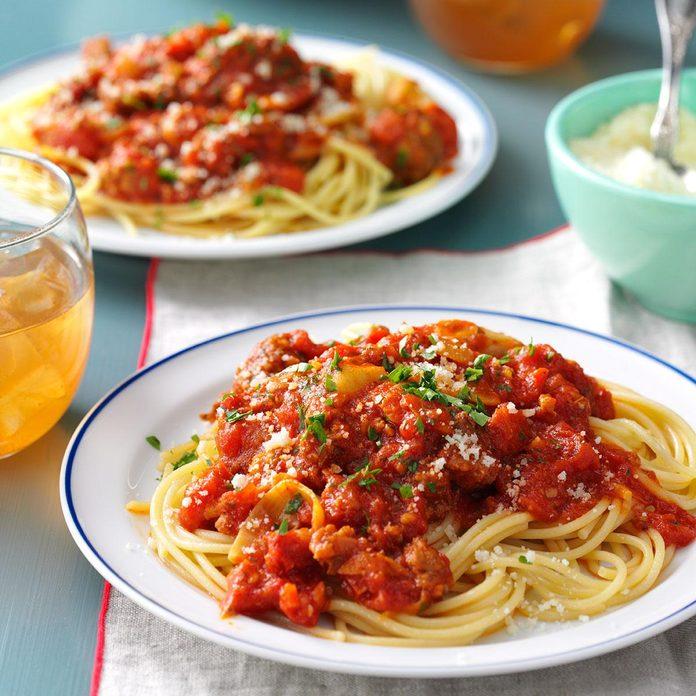 Sausage, Artichoke & Sun-Dried Tomato Ragu