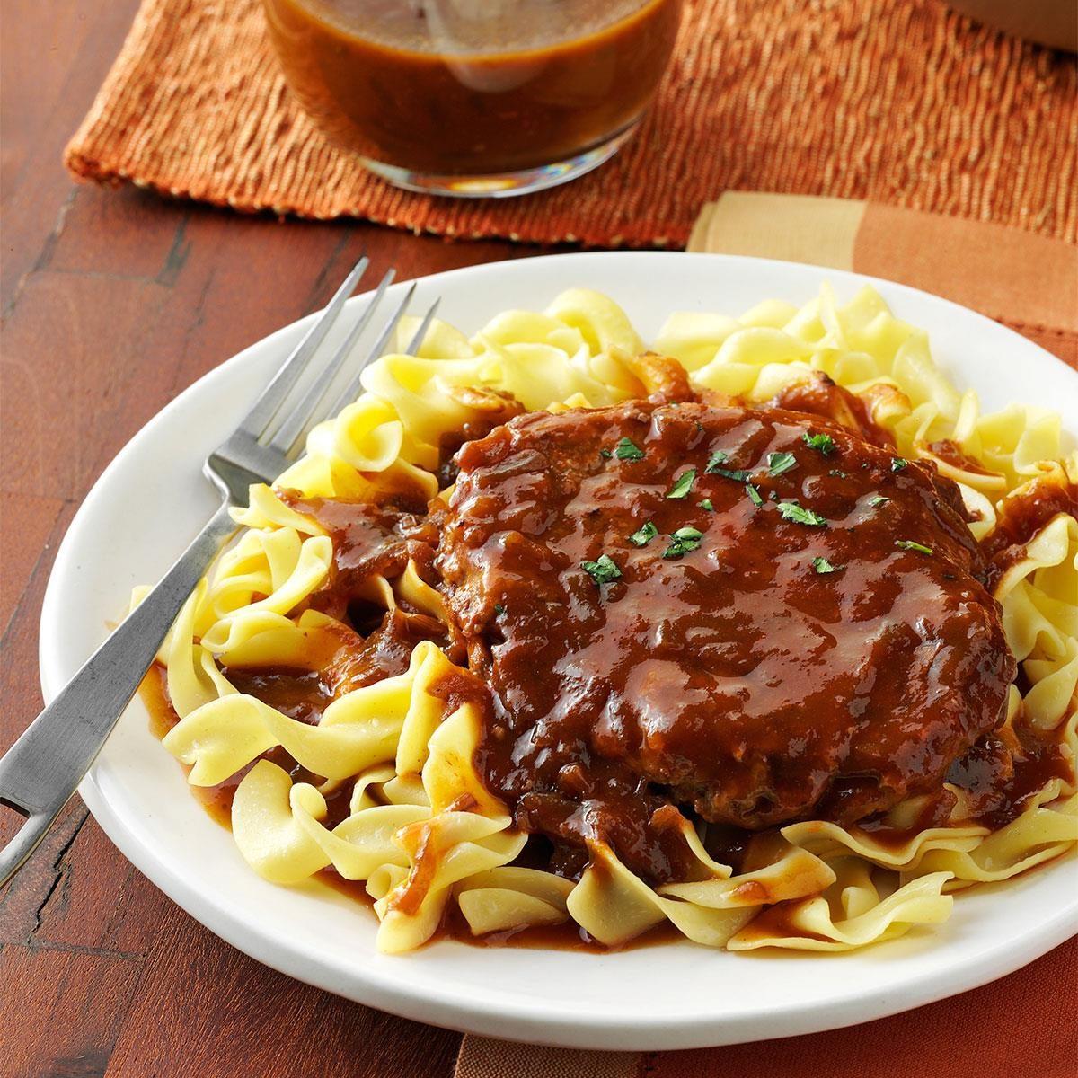 Monday: Salisbury Steak with Onion Gravy