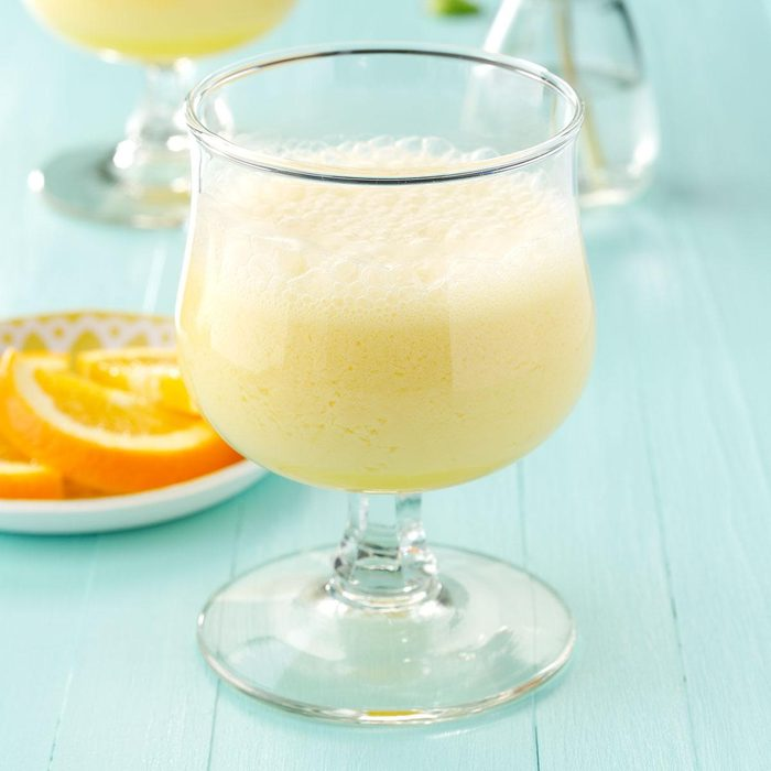 Frothy Orange Drink