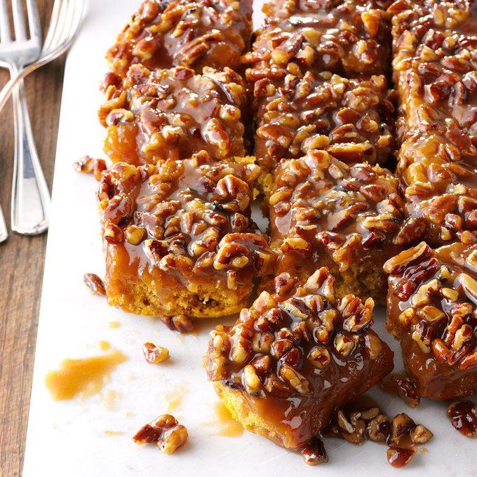 Caramel-Pecan Pumpkin Pull-Aparts