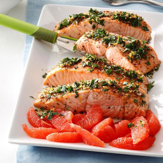 Grapefruit-Gremolata Salmon